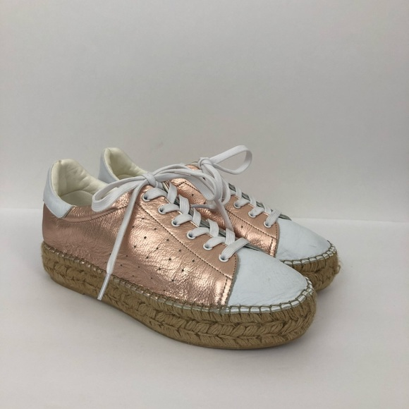 526959625d8da Vince Camuto Rose Gold White Espadrille Shoes